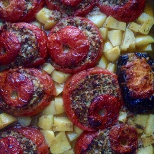 Stuffed Greek Tomatoes